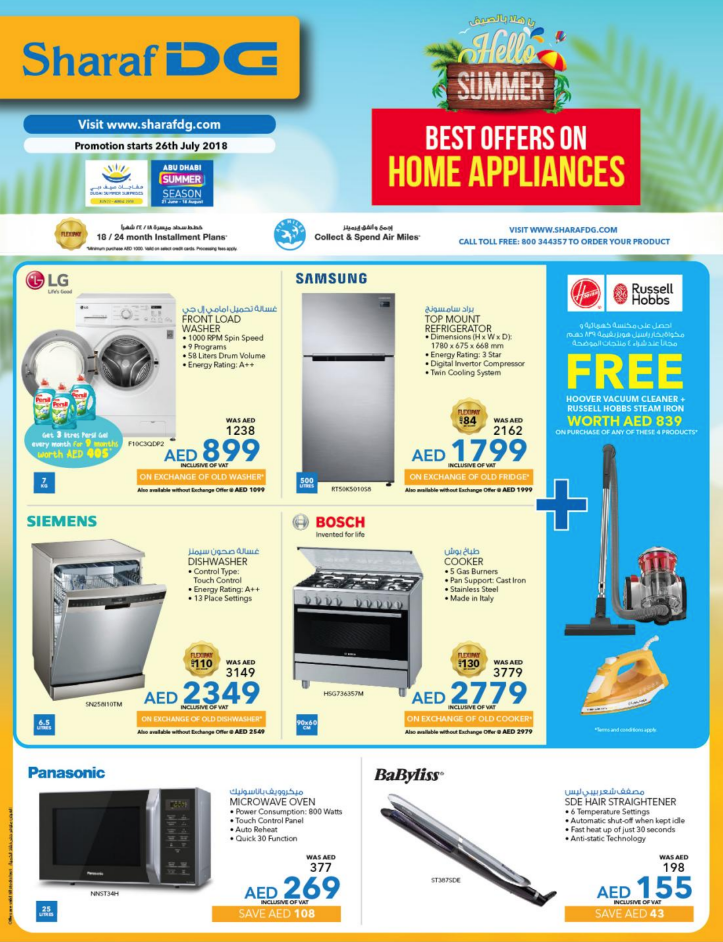 Sharaf DG Best Offers on Home Appliances